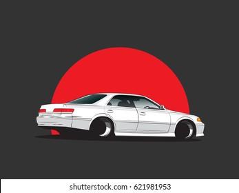 Vector japan tuning car