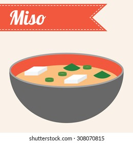 Vector Japanese Food Miso Soup