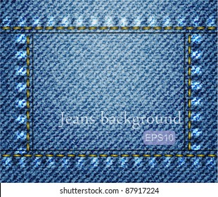 Vector jeans background