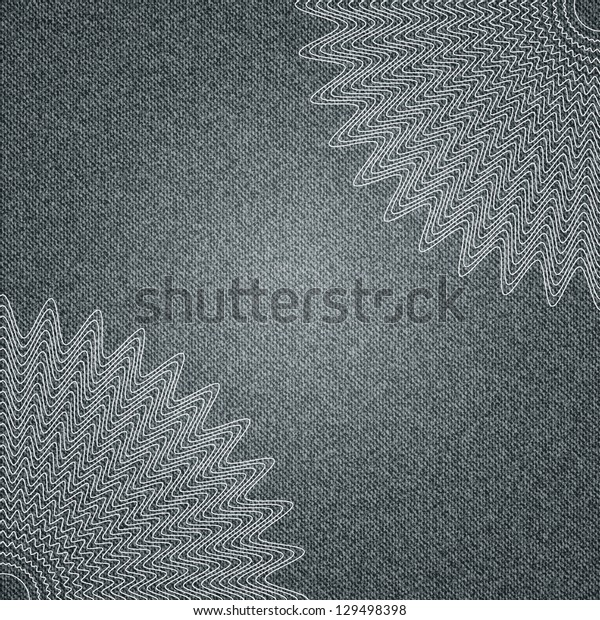 Vector jeans  background with delicate lace