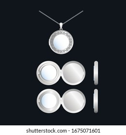 Vector Jewelry Design Locket Necklace