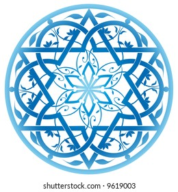 Vector jewish ornament