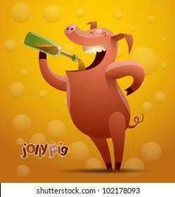 vector jolly pig 1