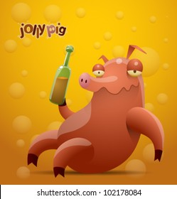 vector jolly pig 3