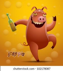 vector jolly pig 4