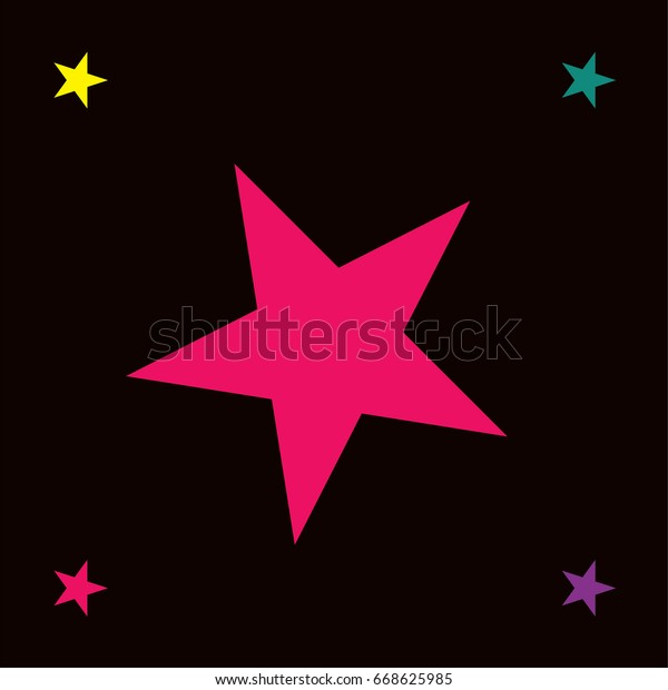 Vector Jolly Seamless Starry Pattern Rainbow Stock Vector Royalty Free 668625985