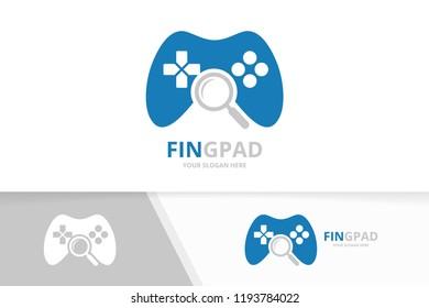 game controller logo template joystick icon stock vector royalty
