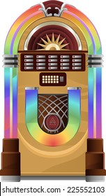 Vector Jukebox on white Jukebox vector illustration.