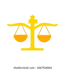 vector justice Balance illustration - balance scale isolated, judge law concept