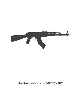 Vector kalashnikov assault rifle icon