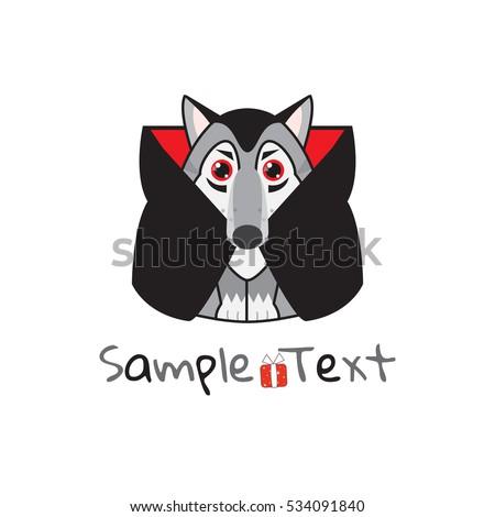 Vector Kawaii Husky Malamute Wolf Vampire Vector de stock (libre de ...