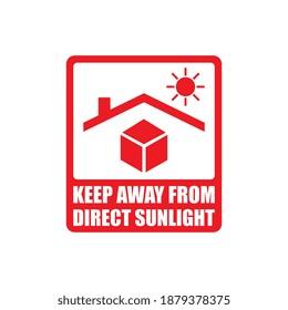 Vektorgrafik von direkter Sonnenscheinkennzeichnung fernhalten