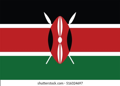 Vector Kenya flag, Kenya flag illustration, Kenya flag picture, Kenya flag image,