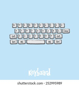 Computer Keyboard Sketch Stock Vectors, Images & Vector Art