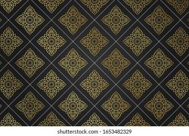 Vector, Khmer pattern isolation background, Luxury pattern of khmer style design, Khmer wallpaper, Cambodia.