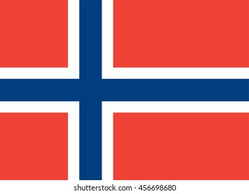 Vector Kingdom of Norway flag
