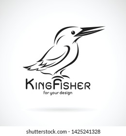 Vector of kingfishers bird(Alcedo atthis) on white background. Bird Design. Kingfishers logo or icon. Easy editable layered vector illustration.