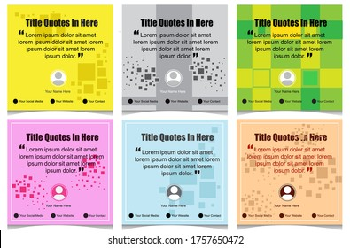 Vector Kit Booster social media banner design. Beautiful text quotes. Editable file in eps.10