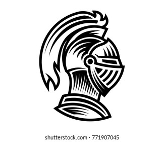 Vector of knight helmet, could be use as logo icon or avatar