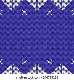 Vector knitted background. Design template with place for your text. Can be used for web pages, identity style, printing, invitations, banners