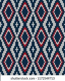 Vector knitted geometrical pattern knitwear pattern thread
