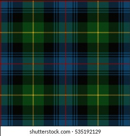 Vector Knitted Plaid Tartan Pattern