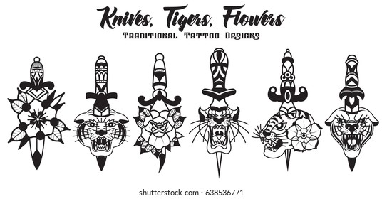 Knife Tattoo Images Stock Photos Vectors Shutterstock