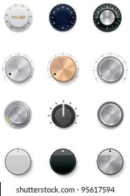 Vector knobs icon set