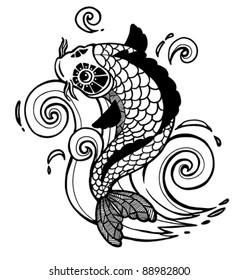 vector koi fish