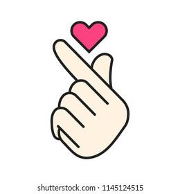 K-Pop: Kpop Finger Heart Emoji