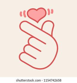 Finger Heart Images, Stock Photos & Vectors | Shutterstock