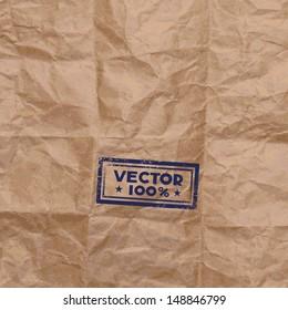 Vector kraft paper