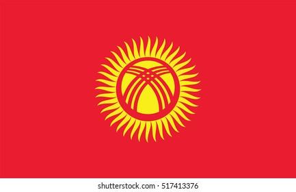 Vector Kyrgyzstan flag, Kyrgyzstan flag illustration, Kyrgyzstan flag picture, Kyrgyzstan flag image