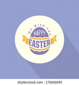 Vector label design typographic elements of easter holiday. Perfect as template for greeting card