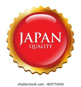 vector label japan quality