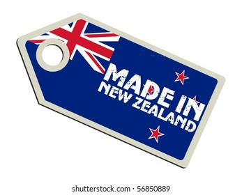 vector label Made in New Zealand