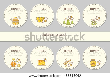Vector Label Sticker Template Round Emblems Stock Vector Royalty