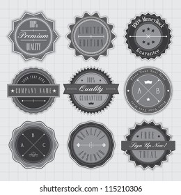Vector labels and badges