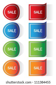 Vector Labels stickers with sale messages