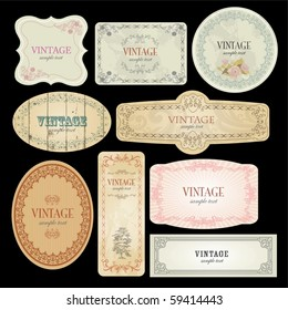 Vector Labels Template