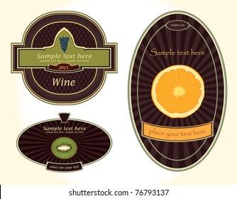 Vector labels-beverage
