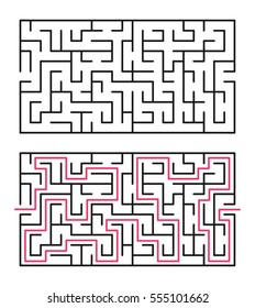 Vector labyrinth 61. Maze / Labyrinth with entry and exit.