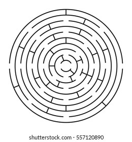 Vector labyrinth 63. Maze / Labyrinth with entry and exit.