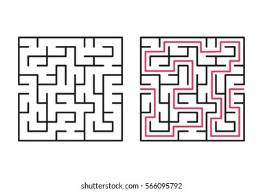 Vector labyrinth 74. Maze / Labyrinth with entry and exit.