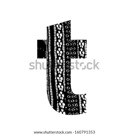 Vector Lace Font Letter T Stock Vector Royalty Free 160791353