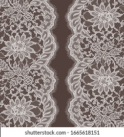 Vector Lace Ribbon Seamless Pattern