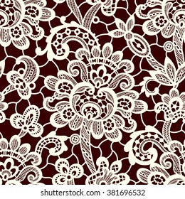 Vector Lace Seamless Pattern.