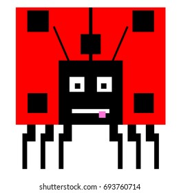 Vector ladybird are made of squares and rectangles