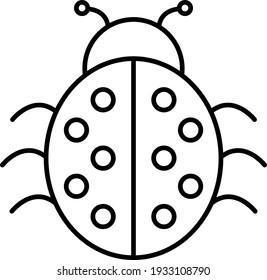 ladybug outline high res stock images   shutterstock  shutterstock