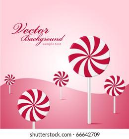 Vector land lollipop as tree background